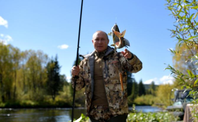 Vladimir Putin a plecat la pescuit / Foto: kremlin.ru