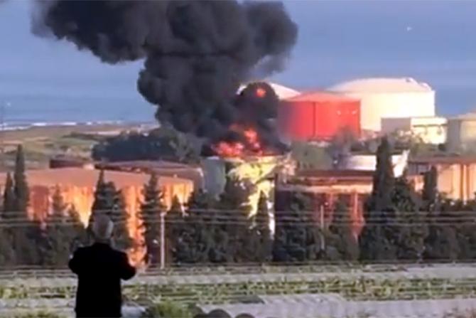 Incendiu uriaș în Liban, în plină criză a energiei electrice