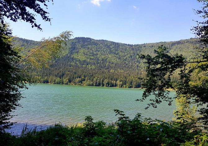 Singurul lac vulcanic din România, Sfânta Ana, este în pericol