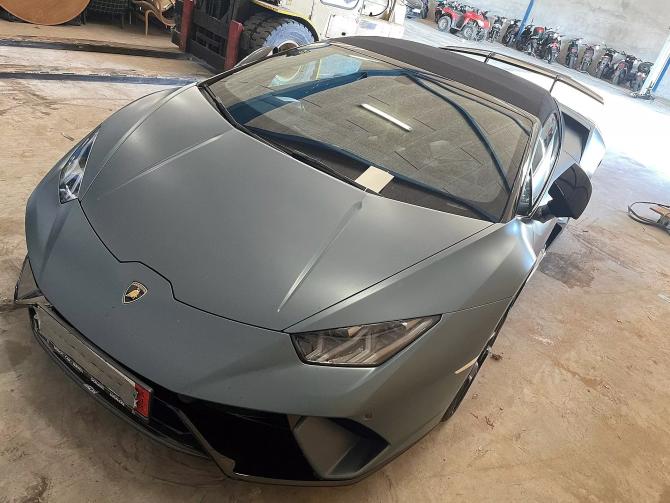 Lamborghini Huracan confiscat de poliția daneză