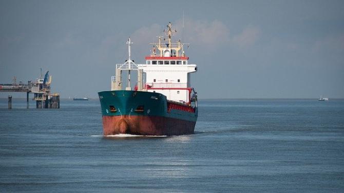 Nava este înțepenită pe fundul mării