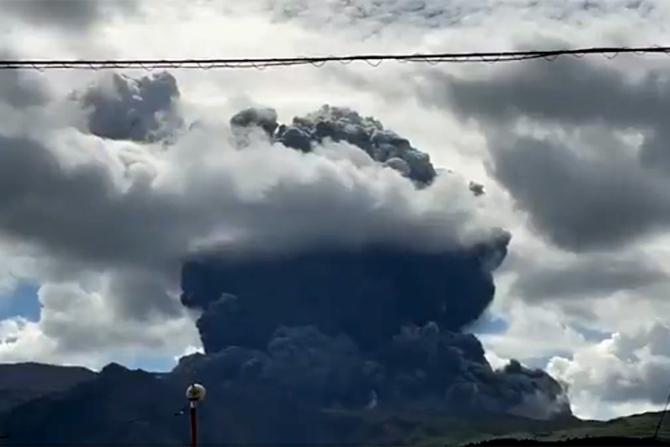 Vulcanul Aso, aflat din sudul Japoniei, a erupt
